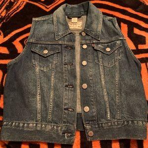 Levi's dark jean vest